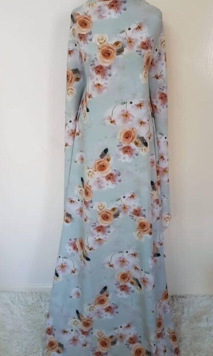 Light green floral maxi dress